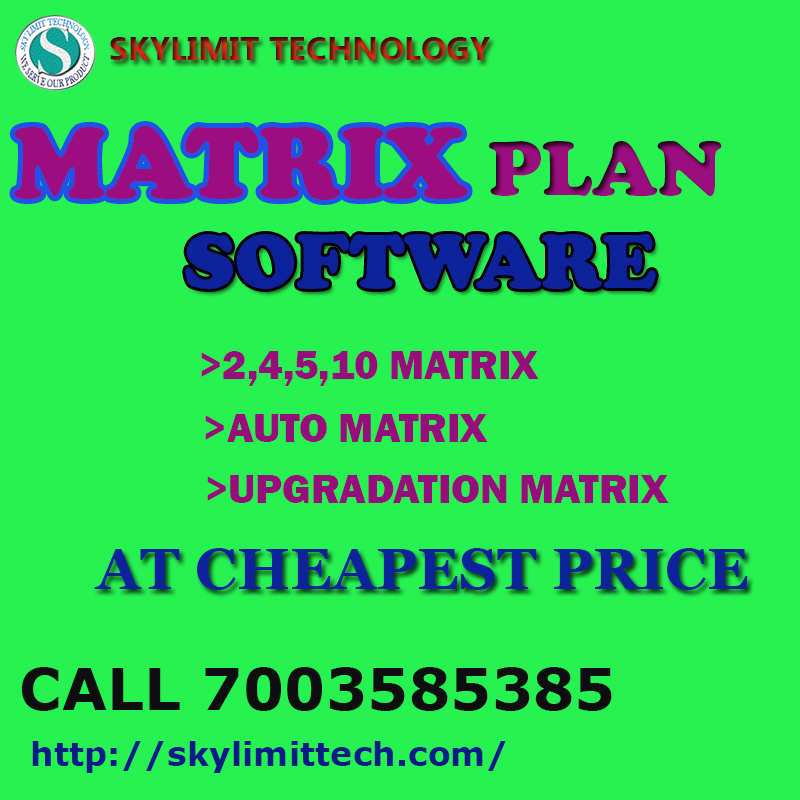 MATRIX PLAN SOFTWARE WITH FREE MOBILE APPS AT CHEAPEST RATES..CALL 7003585385