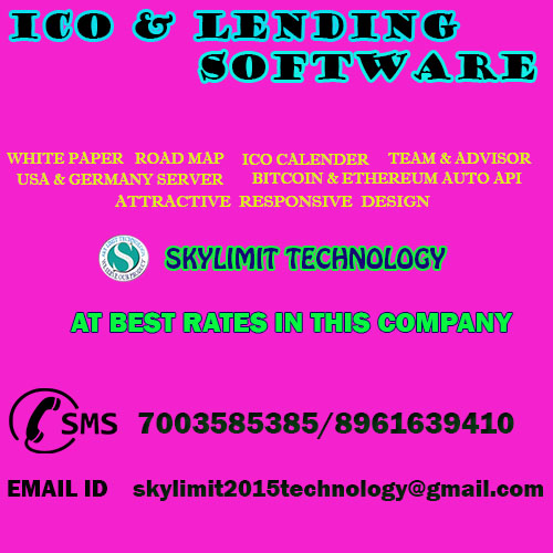 BEST ICO AND LENDING COIN SOFTWARE WITH AUTO BITCOIN BLOCK CHAIN API CALL 7003585385