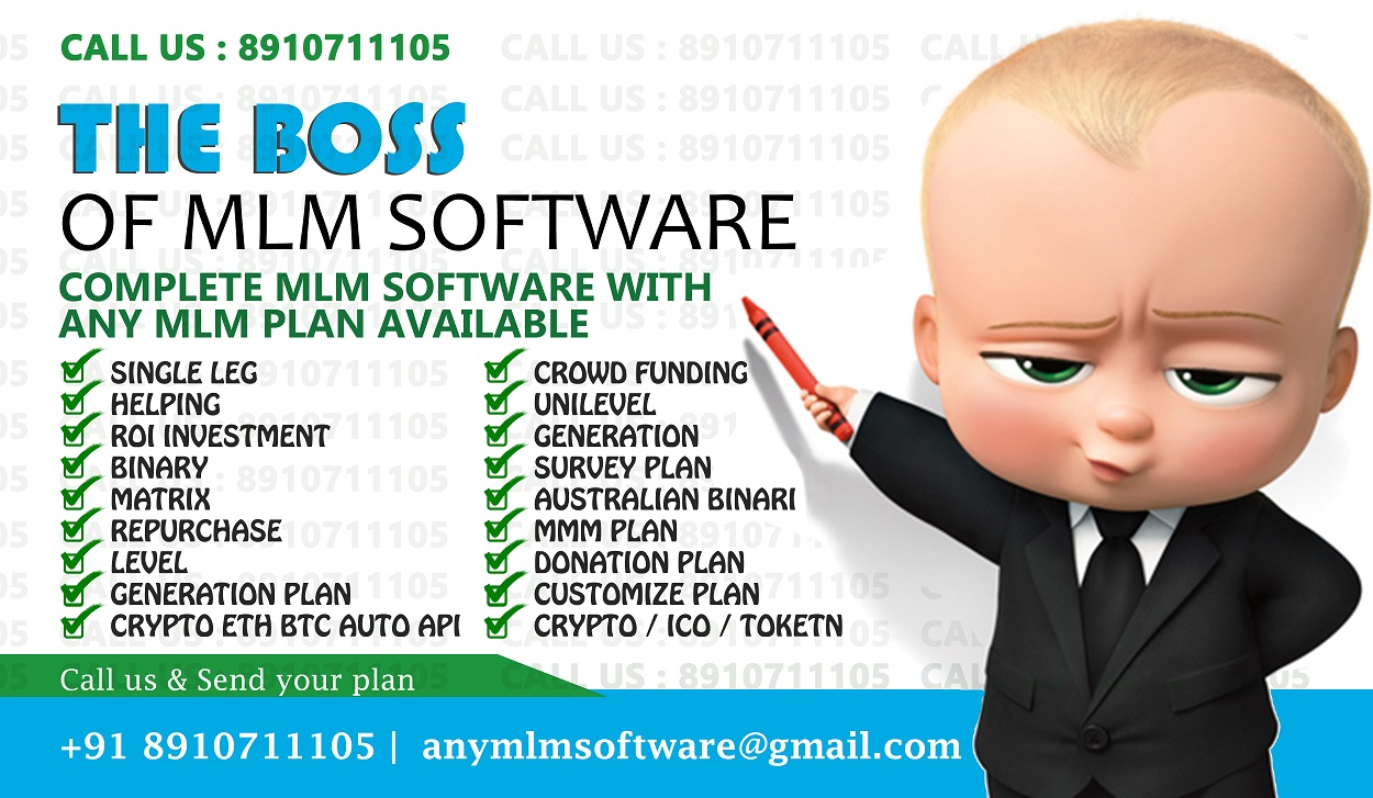 Single Leg,Helping,ROI Investment,Binary, MLM Software Starting 14999 Onward Call Demo 8910711105