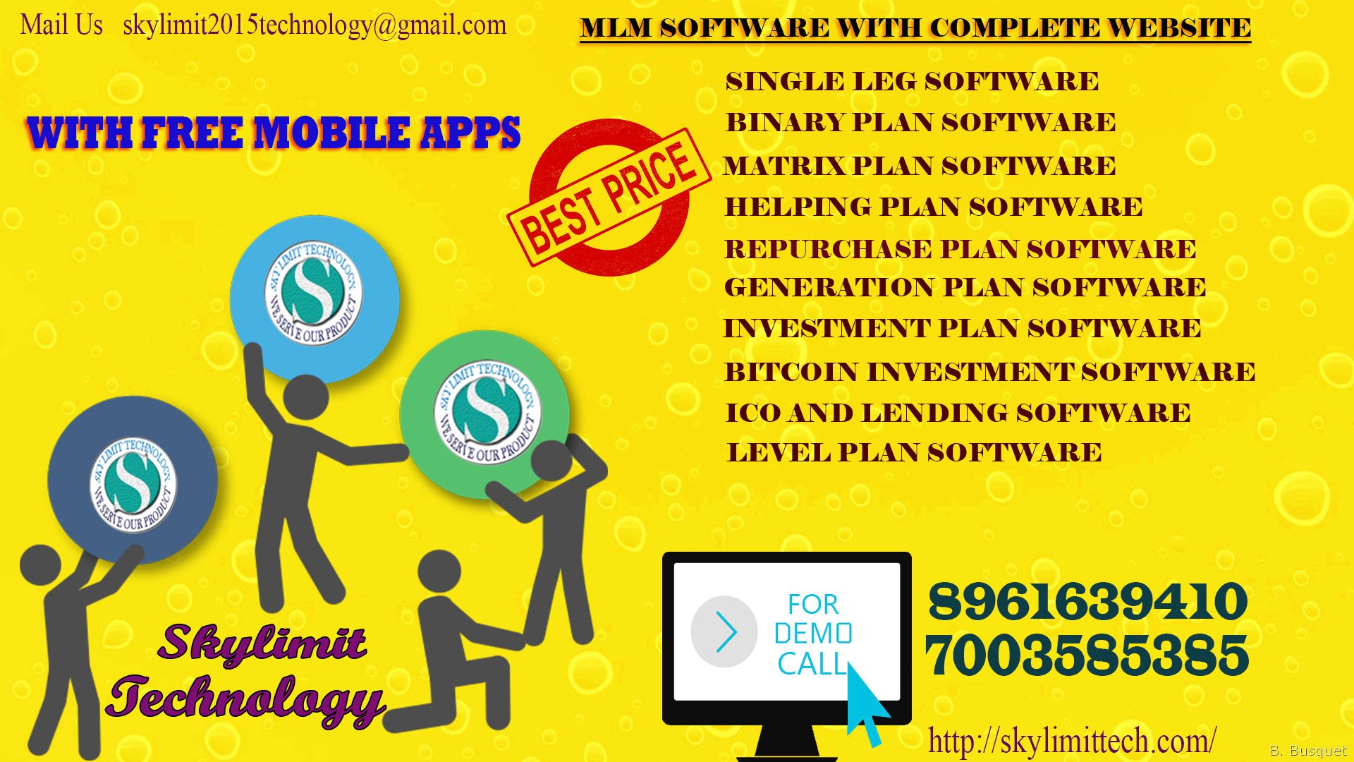 Single Leg,Binary,Matrix,Level:MLM Software Starting 12999/- Onward..For Live Demo Call 8961639410