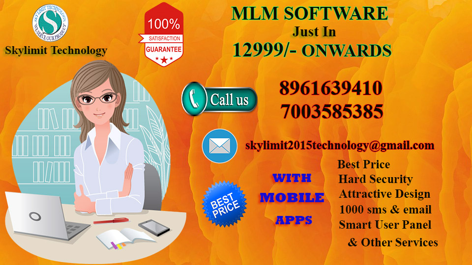 MLM SOFTWARE WITH COMPLETE WEBSITE WITH CHALLENGE PRICE..JUST CALL 7003585385