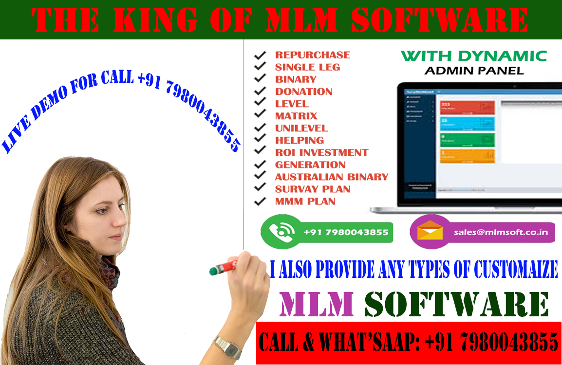 Software MLM 9999 Onward Call & WhatsApp for demo 7980043855.