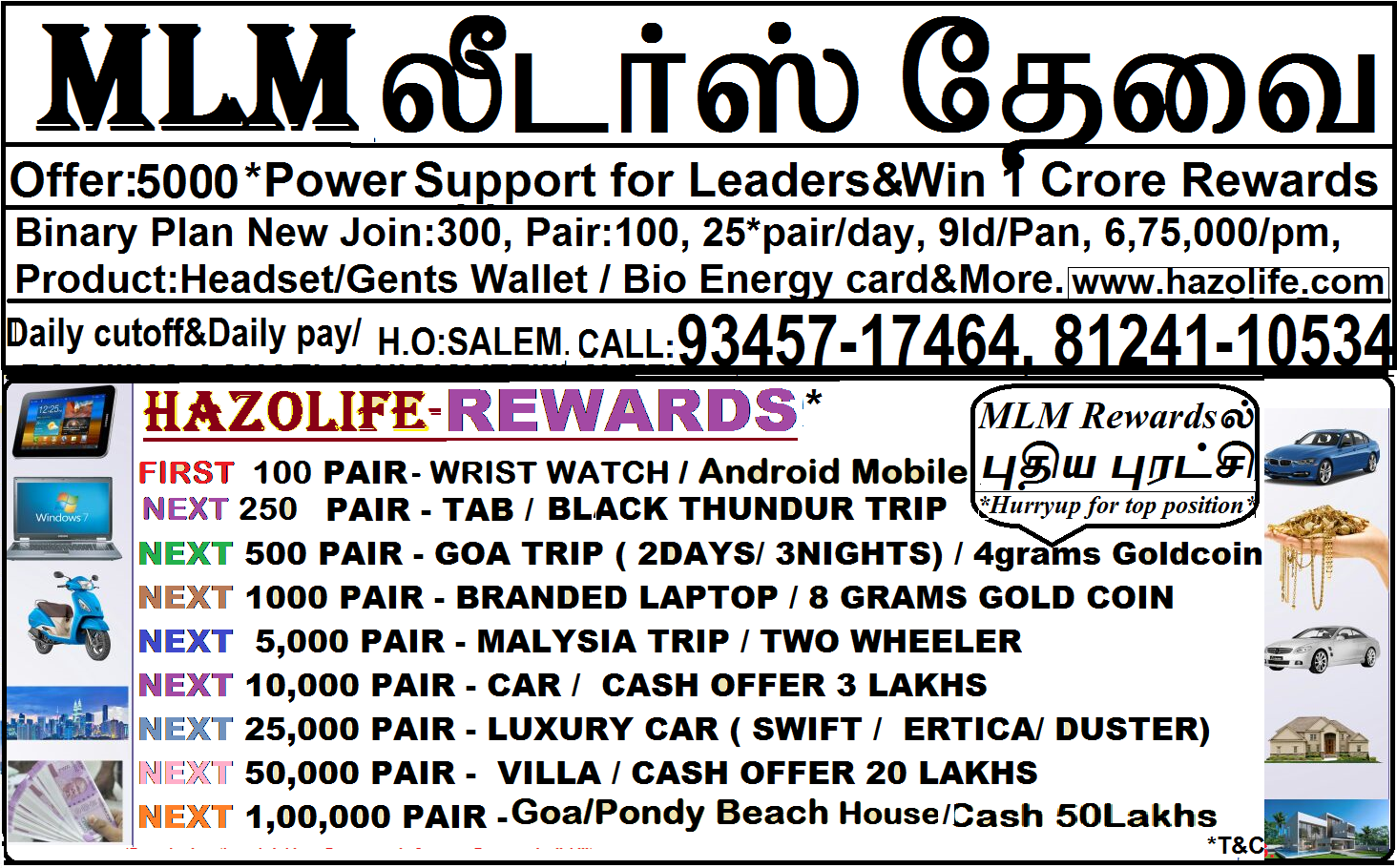 NEW JOIN 300, PAIR 100, 1000POWERS AND WIN 1 CRORE REWARDS