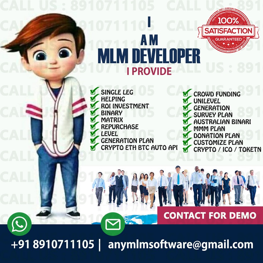 All Type Of MLM Software ICO,  Crypto Currency, BTC, ETH Auto API Software Available