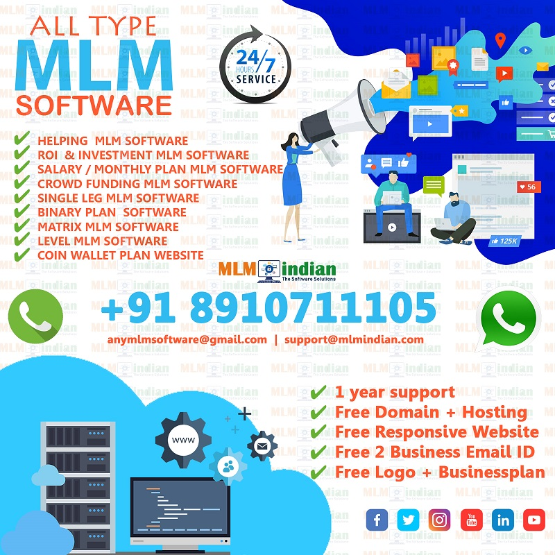 Single Leg Plan Any Type OF MLM Software Call Demo 8910711105