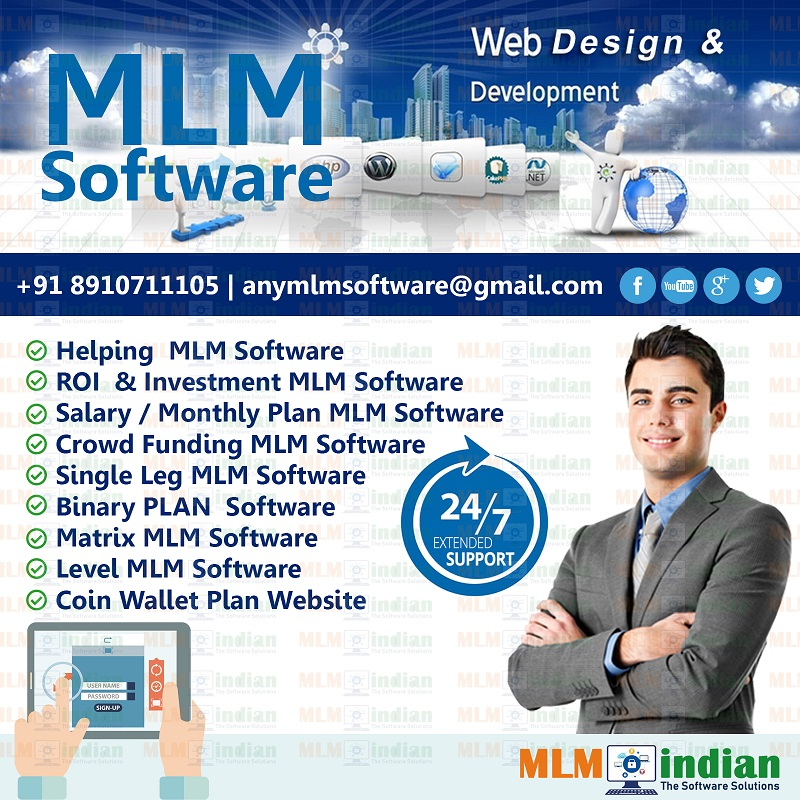 ROI Investment Salary Monthly weekly plan MLM Software Call Demo 8910711105