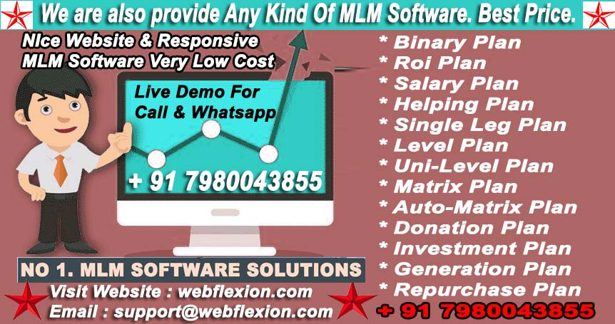 MLM SOFTWARE.Demo Free Call & WhatsApp for demo 7980043855.